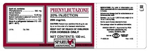 Phenylbutazone label