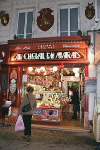 French horsemeat butcher shop
