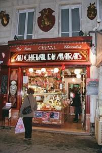 French horsemeat butcher shop