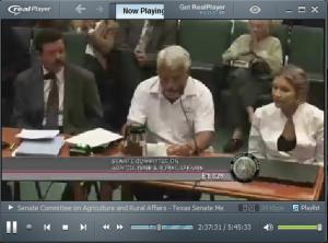 Testimony before Texas Senate Committee