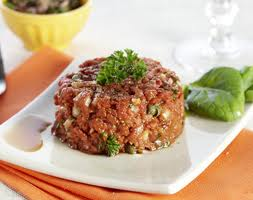 Cheval Tartar or Horse Raw Meat Patty