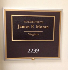 Representative Moran name plaque