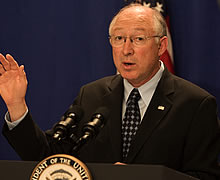 Ken Salazar is resigning from his post.