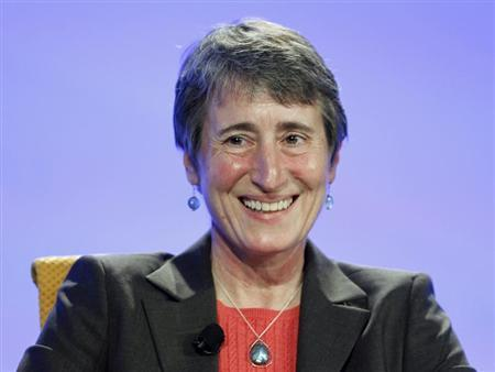Sally Jewell, president and CEO of REI, speaks at the Fortune Brainstorm Green conference in Laguna Niguel