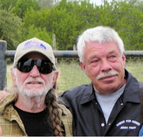 Willie Nelson with Jerry Finch, President of Habitat for Horses