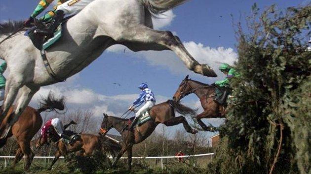 Eurosport - Grand National - falling horses
