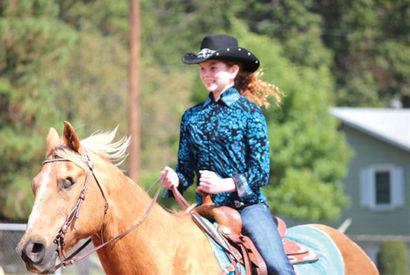 Tori Czech of Chippewa Falls, Wis., rides Skip