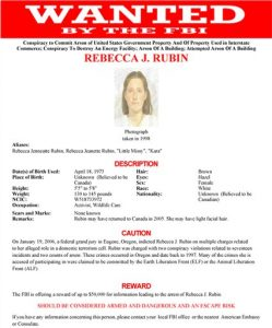 Rebecca Rubin wanted poster