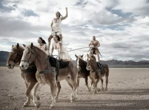 "Horses and Acrobats Perform Together in ""Gladius"""