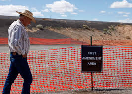 """Free Speech"" zone during the Bundy confrontation"