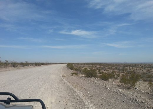 This is the road from the highway to the ranch headquarters, 22 miles of rugged terrain that will beat you to death, loaded or empty…