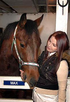 Priscilla with Max a rescue horse