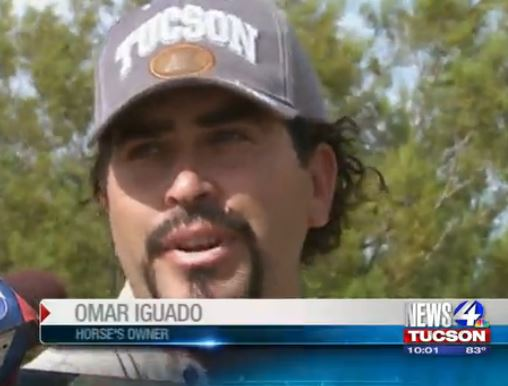 Omar Iguado, horse owner