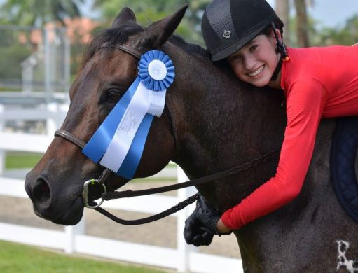 Jamie Buis and prize winning dying horse